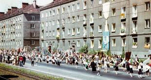 Procesja Bożego Ciała na Siedlcach – czerwiec 1980 r. Fot: Stanisław Kujawski