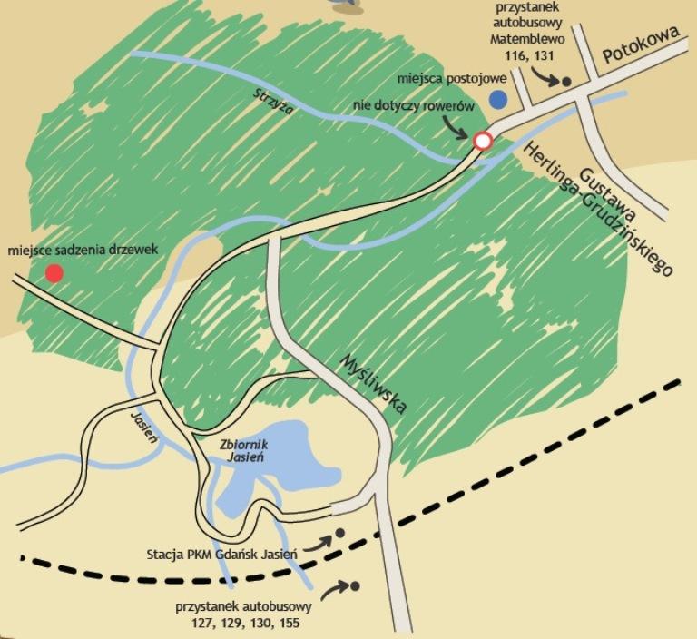 Mapka z miejscem sadzenia.